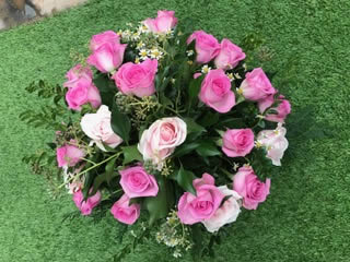Bouquet of pink roses, Bury St Edmunds