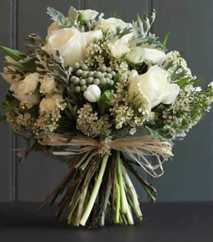 Hand-tied bouquet for lady in Bury St Edmunds